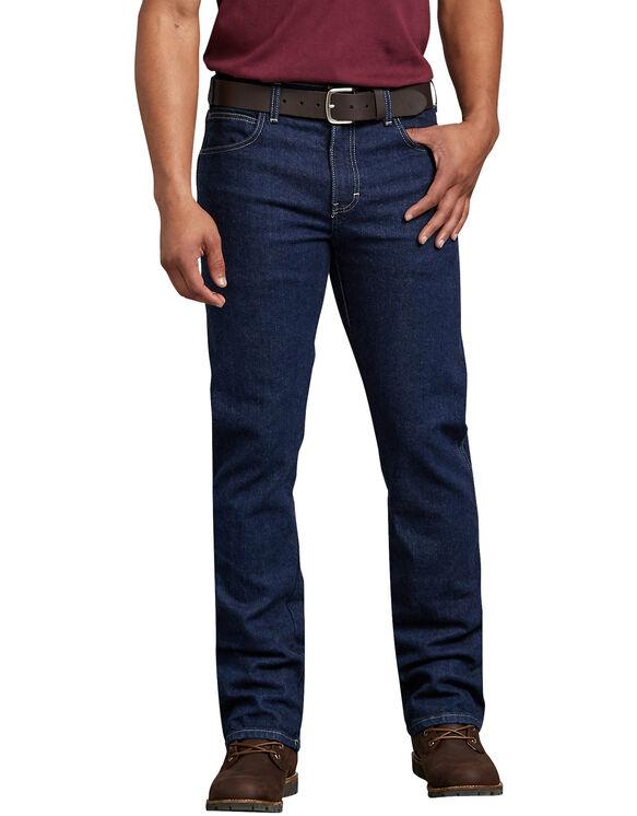 Flex Regular Fit Straight Leg 5-Pocket Denim Jean - Rinsed Indigo Blue (FRI)