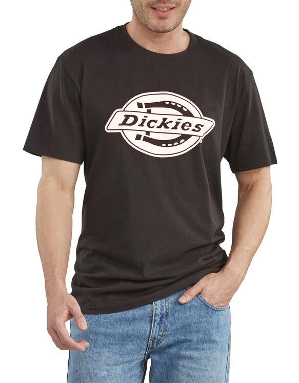 T-shirt à manches courtes de coupe décontractée avec imprimé - Black/White (BKWH)
