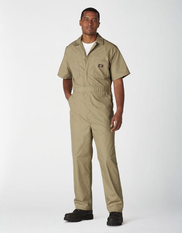 Short Sleeve Coveralls - Military Khaki (KH)