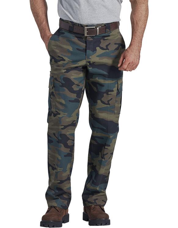 Pantalon cargo en tissu croisé - Hunter Green Camo (HRC)