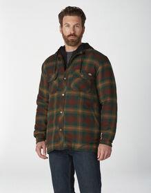 Veste-chemise en flanelle avec capuchon en molleton et technologie Hydroshield - Forest Brown Duck Ombre Plaid (F2P)