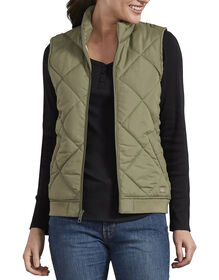 Women's Quilted Vest - Green Leaf (EF)