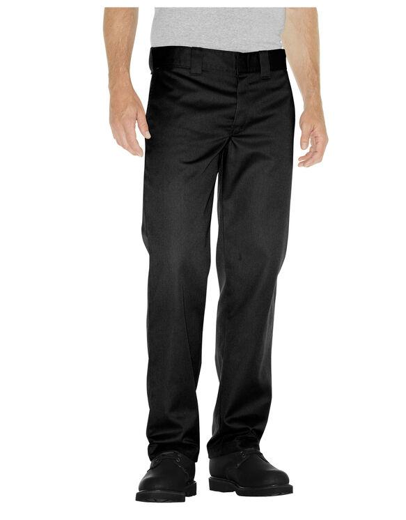 Slim Fit Straight Leg Work Pants - Rinsed Black (RBK)
