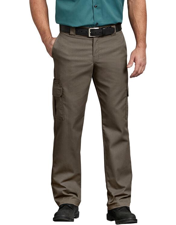 FLEX Regular Fit Straight Leg Cargo Pants - Mushroom (MR1)