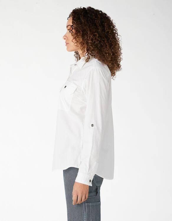 Women's Long Sleeve Roll-Tab Work Shirt - White (WH)