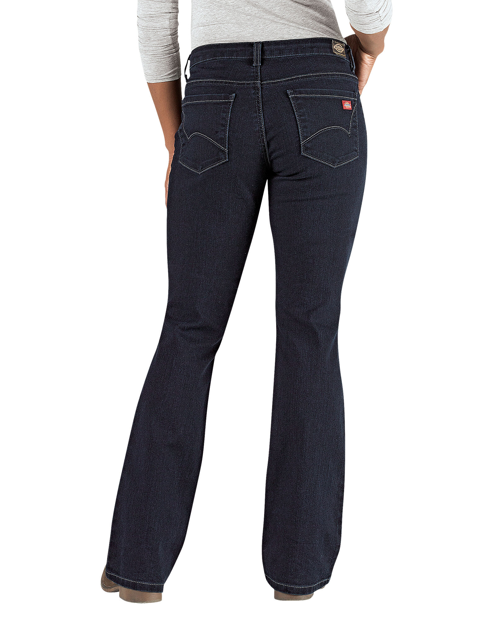 097a0569db7 ... Women's Curvy Fit Boot Cut Leg Denim Jean - Stonewashed Dark Blue