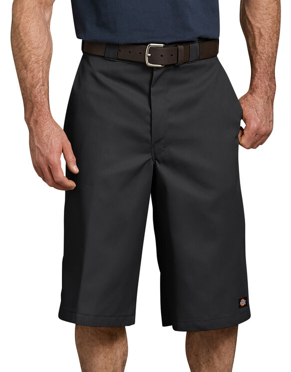 "15"" Loose Fit Multi-Use Pocket Work Shorts - Black (BK)"