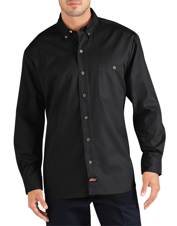 Genuine Dickies Long Sleeve Performance Canvas Work Shirt - Black (BK)