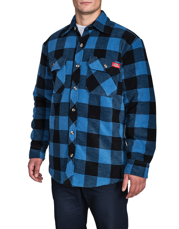 Polar Fleece Jacket - BLUE PLAID CANADA (N45)