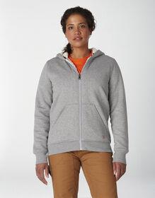 Women's Sherpa Lined Hoodie - Ash Gray (AG)
