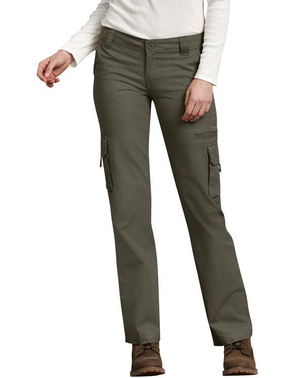 Pantalon cargo décontracté pour femmes - Leaf Green (RGE)