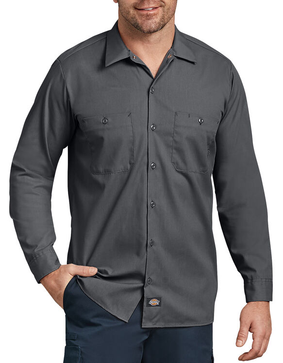 Long Sleeve Industrial Work Shirt - Charcoal Gray (CH)