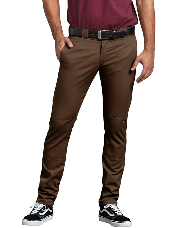 FLEX Skinny Straight Fit Double Knee Work Pants - Timber Brown (TB)
