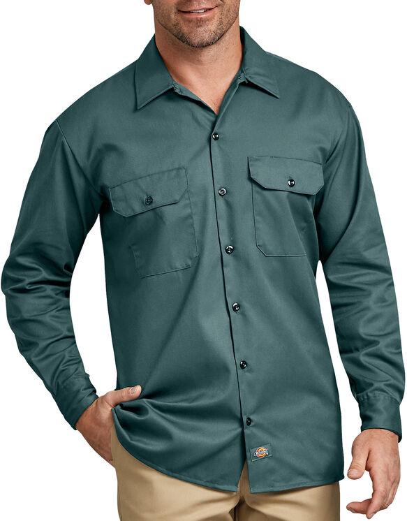 Chemise a manches longues chemise de travail devant solides - Lincoln Green (LN)