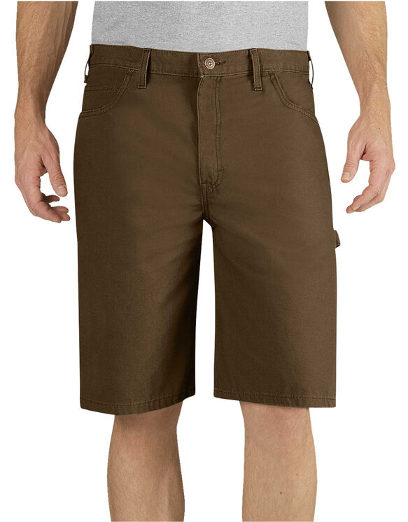 "11"" Relaxed Fit Lightweight Duck Carpenter Short - Timber Brown (RTB)"