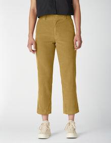 Women's Reworked Corduroy Ankle Pants - Bronze Mist (BM2)