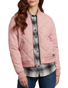 Women's Quilted Bomber Jacket - Lotus Pink (LO2)