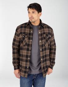 Veste-chemise en flanelle doublée de Sherpa avec technologie Hydroshield - Mushroom Plaid (UP1)