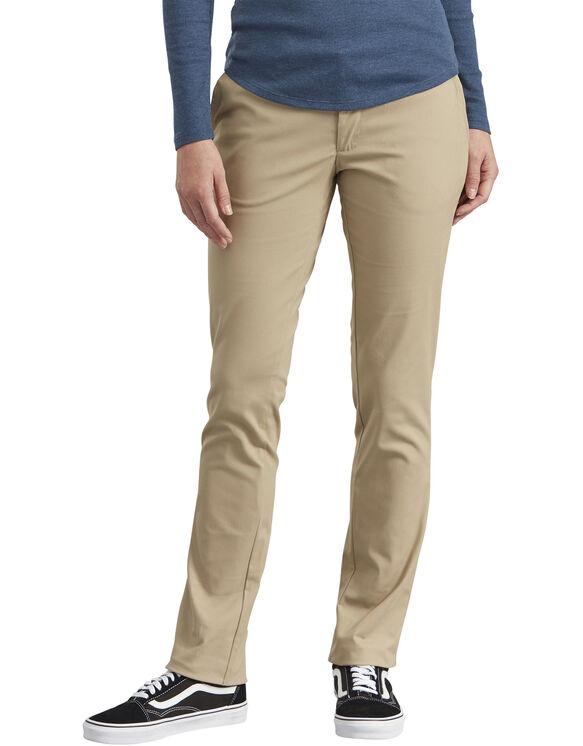 Women's Slim Fit Straight Leg Stretch Twill Pants - Desert Khaki (DS)