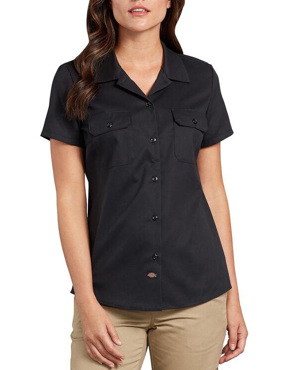 Women's Flex Short-Sleeve Work Shirt - Black (BK)
