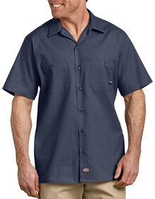 Short Sleeve Industrial Work Shirt - Navy Blue (NV)