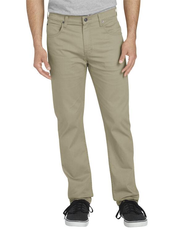 Dickies X-Series Slim Fit Tapered Leg 5-Pocket Pants - Desert Khaki (RDS)