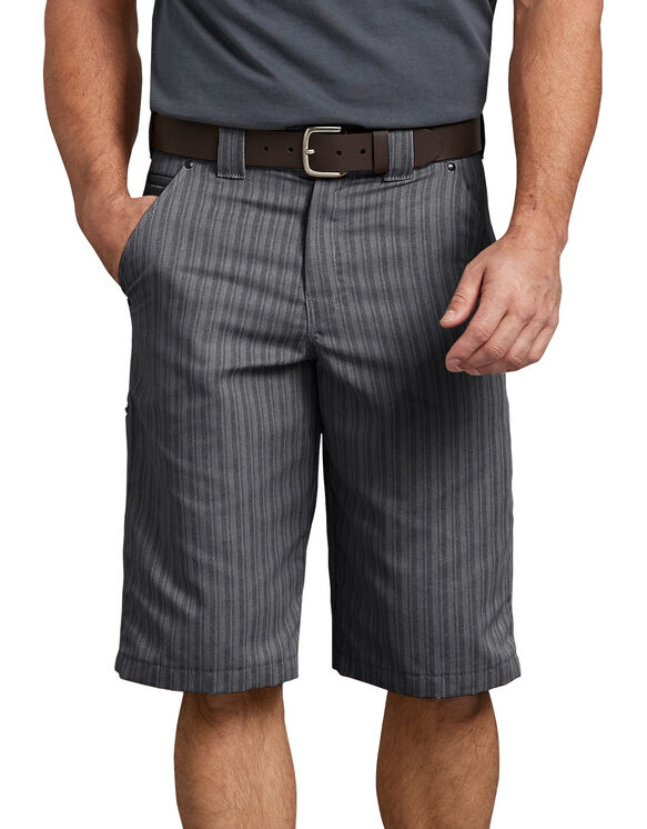 Shorts à rayures ombrées de coupe standard à entrejambe de 13po - Graphite (GA)