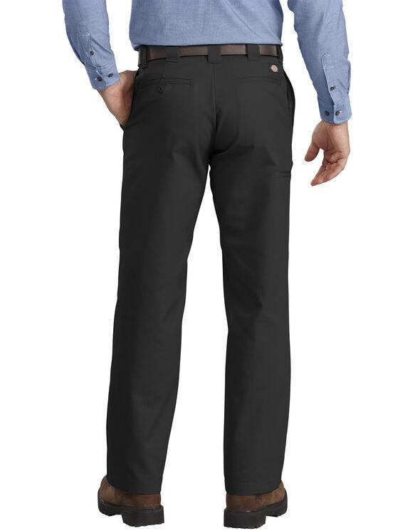 Pantalon de travail en tissu croisé - jambe droite - Black (BK)