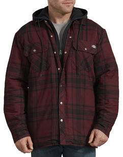 Relaxed Fit Icon Hooded Quilted Shirt Jacket - Dark Port Black Plaid (PBP)