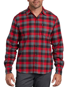 Modern Fit X-Series Long Sleeve Flannel Shirt - Red Gray Plaid (XRS)