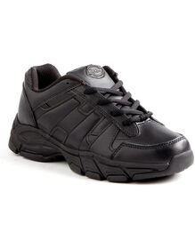 Women's Slip Resisting Athletic Lace Work Shoes - Black (FBK)
