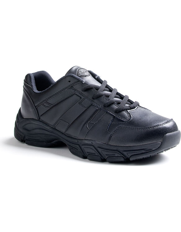 Men's Slip Resisting Athletic Lace Work Shoes - Black (FBK)