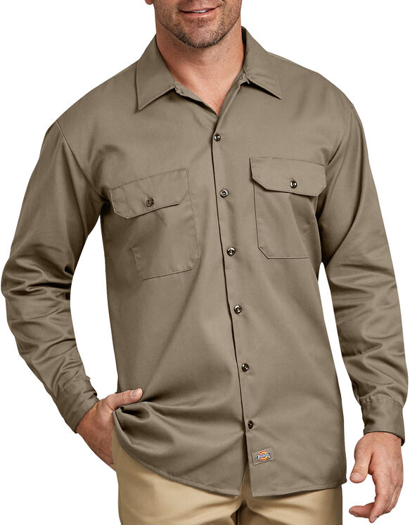Long Sleeve Work Shirt - Desert Khaki (DS)