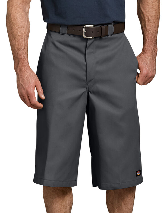 """15"""" Loose Fit Multi-Use Pocket Work Shorts - Charcoal Gray (CH)"""