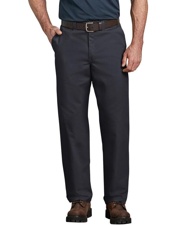 Industrial Relaxed Fit Straight Leg Comfort Waist Pant - Black (BK)