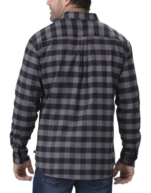 Chemise à manches longues FLEX en flanelle - Slate Black Buffalo Plaid (SKC)