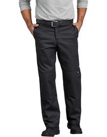 Pantalon de travail FLEX à jambe droite et genoux renforcés de coupe standard - Noir (BK)