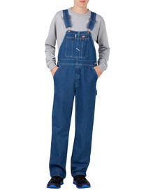Kids' Denim Bib Overalls, 4-7 - Stonewashed Indigo Blue (SNB)