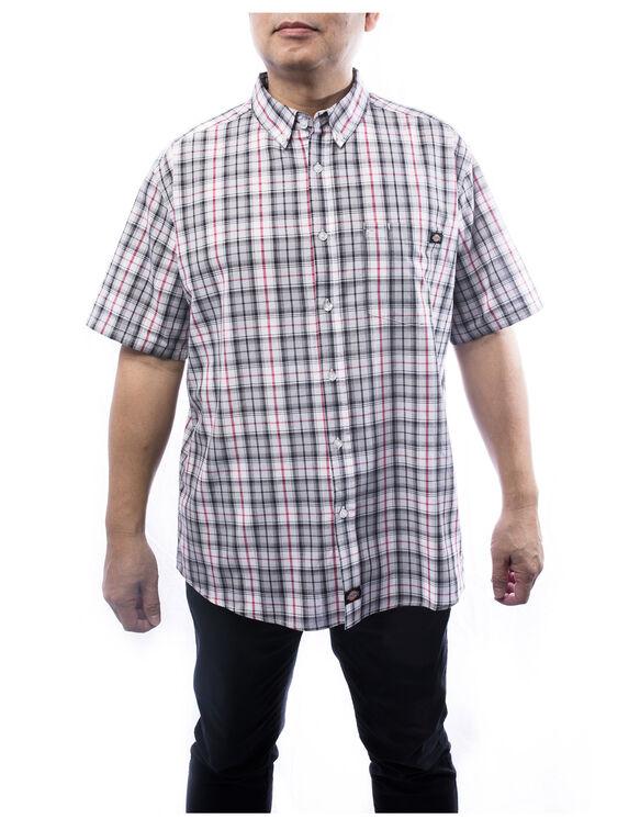 Men's short sleeves plaid shirt - Red (RD)