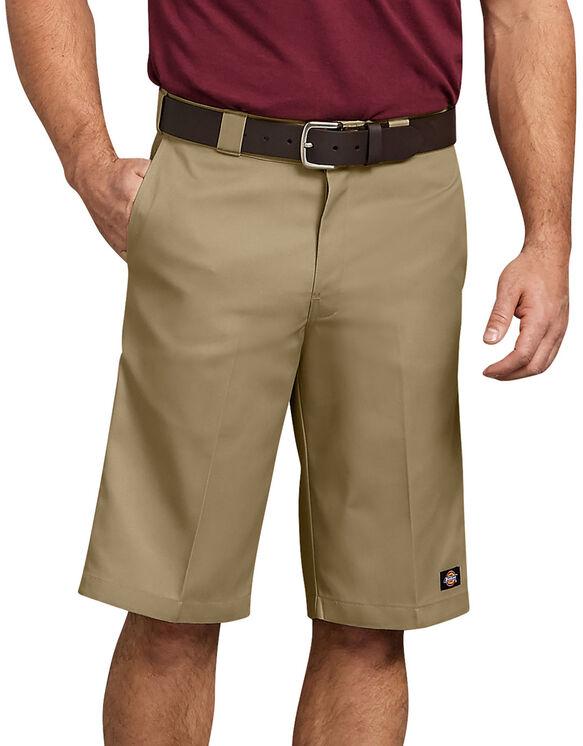 """13"""" Relaxed Fit Multi-Pocket Work Short - Military Khaki (KH)"""