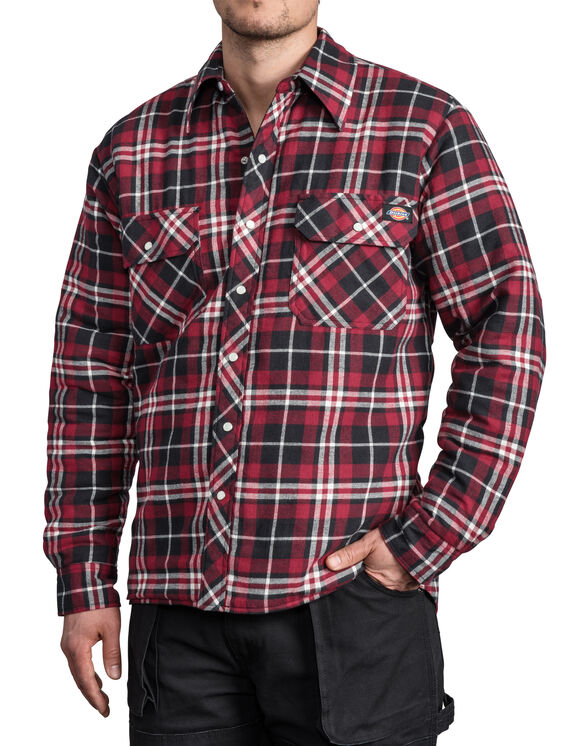 Quilted Snap Front Plaid Shirt - CA003 F17 D18005 (CL6)
