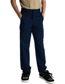 Pantalon sans plis à jambe droite, coupe classique, taille adulte - Dark Navy (DN)