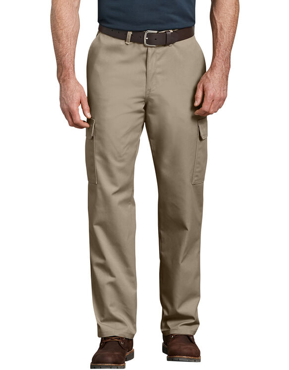 Pantalon cargo renforcé et décontracté à jambe droite - Sable du désert (DS)
