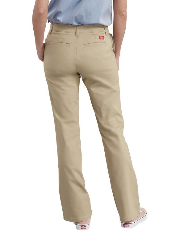 Pantalon en sergé extensible ajusté et semi-évasé pour femmes - Desert Khaki (DS)