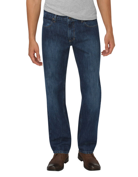 Dickies X-Series Relaxed Fit Straight Leg 5-Pocket Denim Jean - Tinted Indigo Blue (HTI)