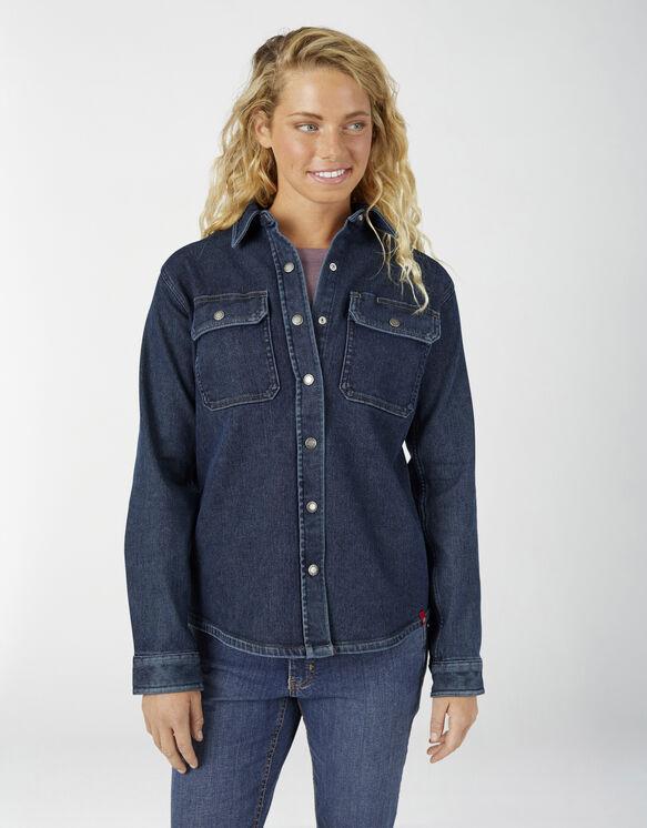 Women's Warming Temp-iQ® FLEX Denim Work Shirt - Stonewashed Medium Blue (MSW)