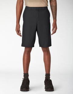 Cooling Temp-iQ™ Active Waist Twill Shorts - Black (BK)