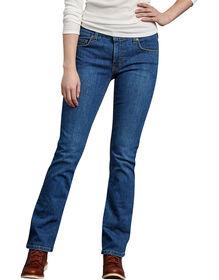 Jeans extensible Forme parfaite à jambe semi-évasée pour femmes - Stonewashed Indigo Blue (SNB)