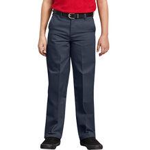 Boys' Classic Fit Straight Leg Flat Front Pants, 4-7 - marine foncé (DN)