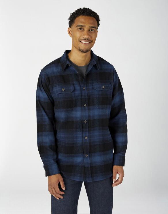 Chemise à manches longues en flanelle épaisse - Ink Navy Plaid (I1P)